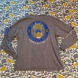 Simply Southern Grey Long Sleeve T EUC Size XL